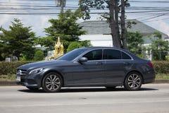 Luxury car White Mercedes Benz CLA 180 Untamed. CHIANG MAI, THAILAND -SEPTEMBER 23 2017: luxury car White Mercedes Benz CLA 180 Untamed. Photo at radial road no Stock Photo