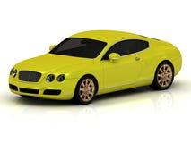 Luxury car yellow Stock Images