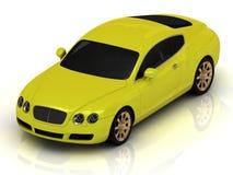 Luxury car yellow Stock Photos