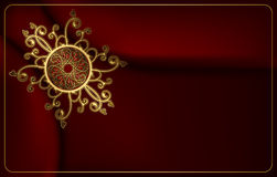 Luxury card with gold fancy pattern. Stock Image