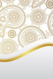 Luxury card with golden paisley design Royalty Free Stock Images