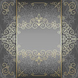 Luxury card with golden patterns Stock Photography