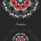 Luxury card with ornate floral pattern. Stock Images