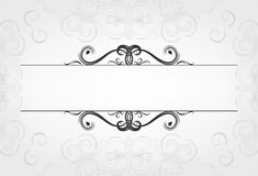 Luxury  cards with calligraphic elements and space for text with mesh background. Stock Images