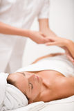 Luxury care - woman at massage Stock Photos