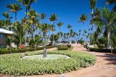 Luxury caribbean hotel resort Stock Image