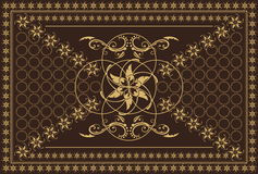 Brown carpet. Luxury carpet in brown colors stock illustration