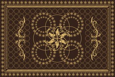 Carpet in brown colours. Luxury carpet in brown colours royalty free illustration