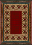 Luxury carpet with a burgundy pattern against the background brown shades Royalty Free Stock Photography