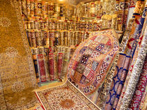 Luxury Carpets Display. On Display Hand Made Luxury Carpets Stock Images