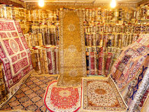 Luxury Carpets Shop. On Display Hand Made Luxury Carpets Stock Photos