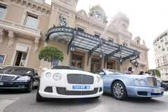 Luxury cars outside Monte Carlo Casino Royalty Free Stock Image