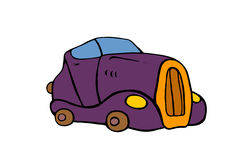 Luxury cartoon car Royalty Free Stock Image