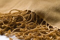 Luxury Cashmere Scarf with Fringe. Detail of Luxury Cashmere Scarf with Fringe Royalty Free Stock Photography