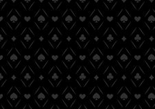 Luxury casino gambling poker background pattern with card symbols Stock Photos