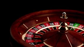 Luxury Casino Roulette. With Zero winning number stock footage