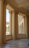 Luxury castle design in modern sanatorium stock photography
