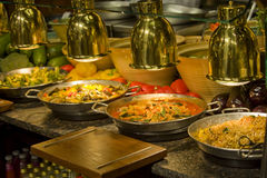 Luxury catering food in a row Royalty Free Stock Images