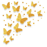 Luxury celebration background with golden butterflies. Stock Photography