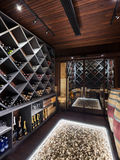 Luxury cellar of prestigious house Royalty Free Stock Photo