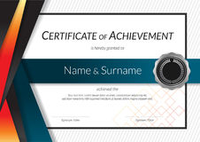 Luxury certificate template with elegant border frame, Diploma d Stock Images
