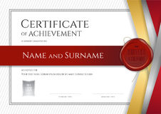Luxury certificate template with elegant border frame, Diploma d. Esign for graduation or completion Stock Photography