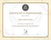 Luxury certificate template with elegant border frame, Diploma d Stock Photo