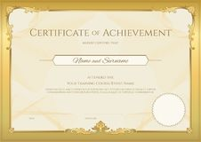 Luxury certificate template with elegant border frame, Diploma d royalty free illustration