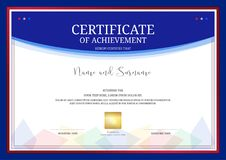 Luxury certificate template with elegant border frame, Diploma d Stock Photography