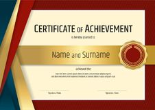 Luxury certificate template with elegant border frame, Diploma d Royalty Free Stock Photo