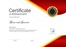 Luxury certificate template with elegant border frame, Diploma d Stock Image