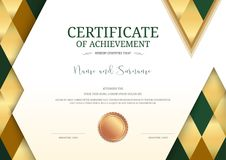 Luxury certificate template with elegant border frame, Diploma d Royalty Free Stock Photography