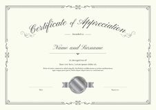 Luxury certificate template with elegant border frame Royalty Free Stock Photography