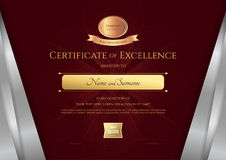 Luxury certificate template with elegant silver border frame, Di Royalty Free Stock Photography