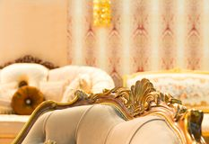 Luxury chair in fashion interior Stock Images