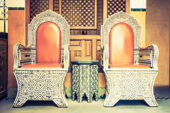 Luxury chair with morocco style Royalty Free Stock Photo