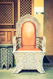 Luxury chair with morocco style Royalty Free Stock Photography