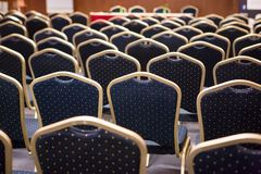 Luxury chairs on a conference Stock Photos