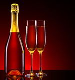 Luxury champagne background Royalty Free Stock Image