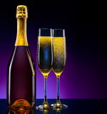 Luxury champagne background Stock Images