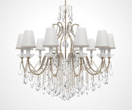 Luxury Chandelier. On white background Royalty Free Stock Images