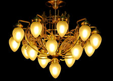 Luxury chandelier on the black ba Stock Photography