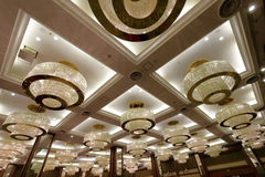 Luxury chandelier in conference room of xianglu grand hotel Royalty Free Stock Photography