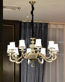 Luxury  chandelier   is lit up by led lamp bulbs Royalty Free Stock Photos