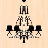 Luxury chandelier on peachy wallpaper Stock Images