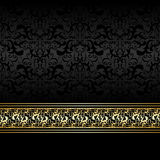 Luxury charcoal Background with golden ribbon Royalty Free Stock Images
