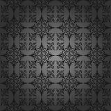 Luxury charcoal wallpaper. Seamless. Pattern. Vect Royalty Free Stock Image