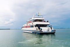 Luxury charter boat near Krabi Thailand. Royalty Free Stock Image