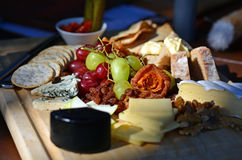 Luxury cheese plate Stock Photos