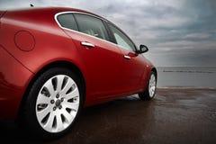 Luxury cherry red car stock photos